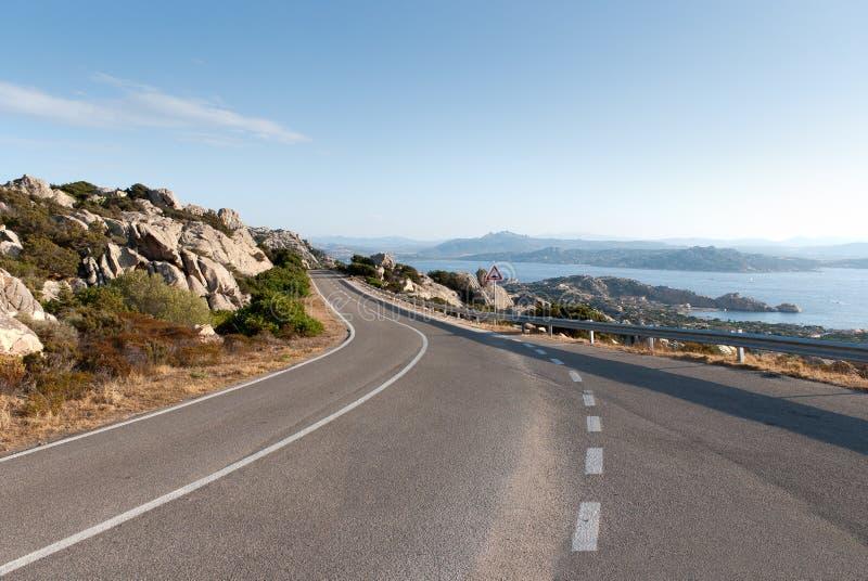Sardinia road stock photography