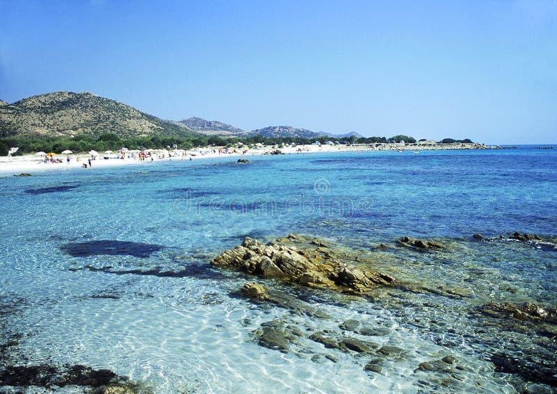 Sardinia's beach of Bidderosa royalty free stock photography