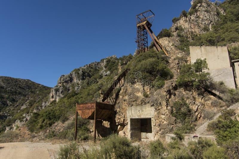 Sardinia. San Luigi mine stock image