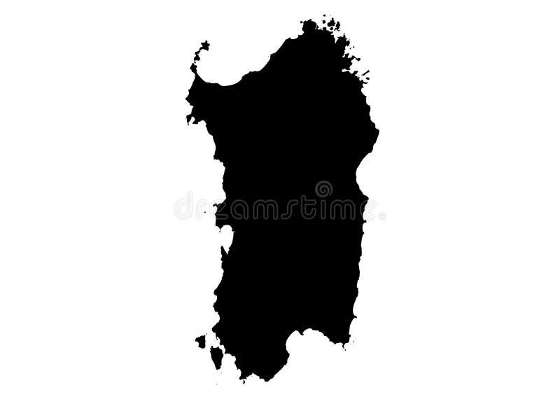 Sardinia stanu mapy wektoru sylwetka ilustracja wektor