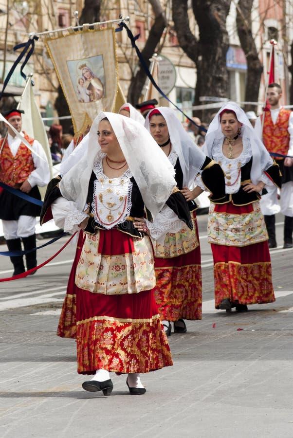 Sardinia.Traditional kostuums stock foto's
