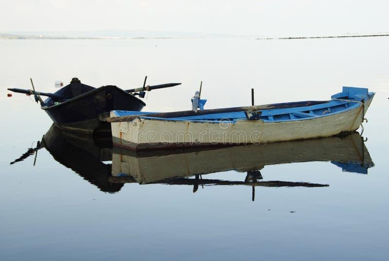 Sardinia.Two fishing boats stock image