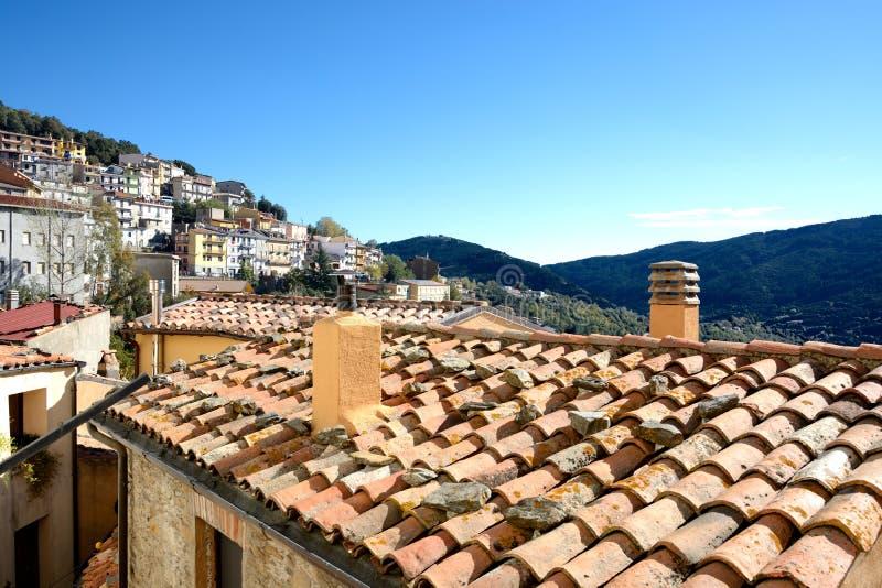 Sardinia. Village of Seui royalty free stock image