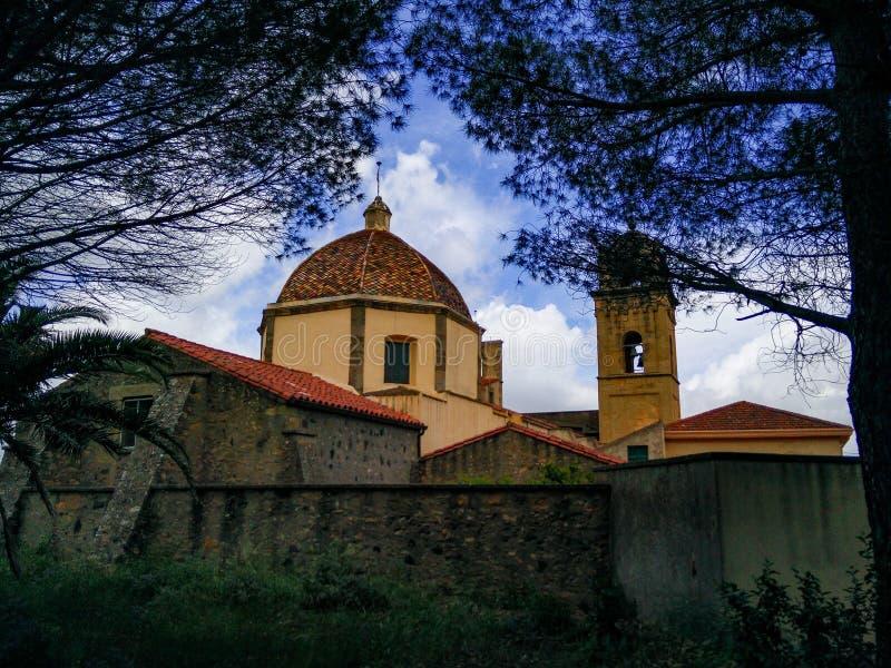 sardinia Villaggi tradizionali antichi Lunamatrona, nella regione storica di Marmilla fotografie stock