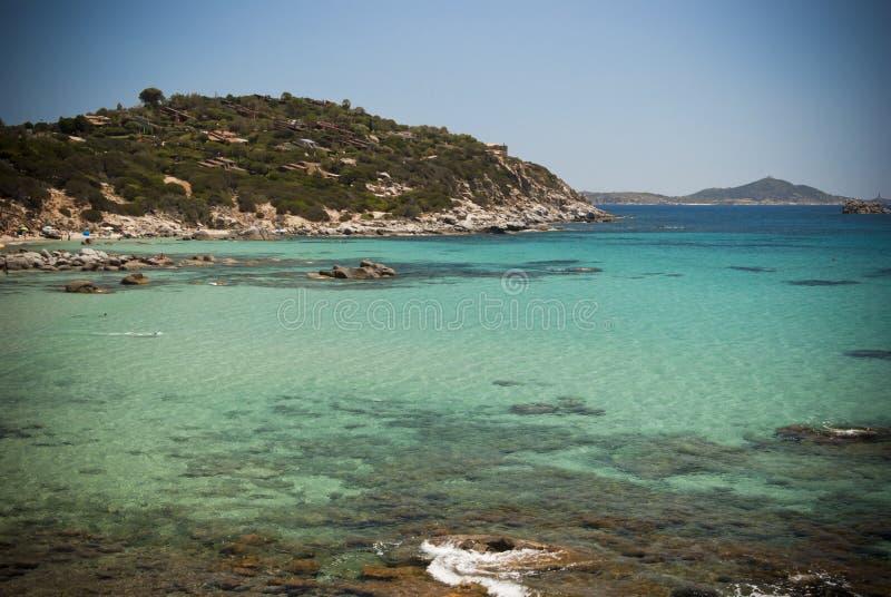 Sardinia. Villasimius.Porto Sa Ruxi bay stock photography