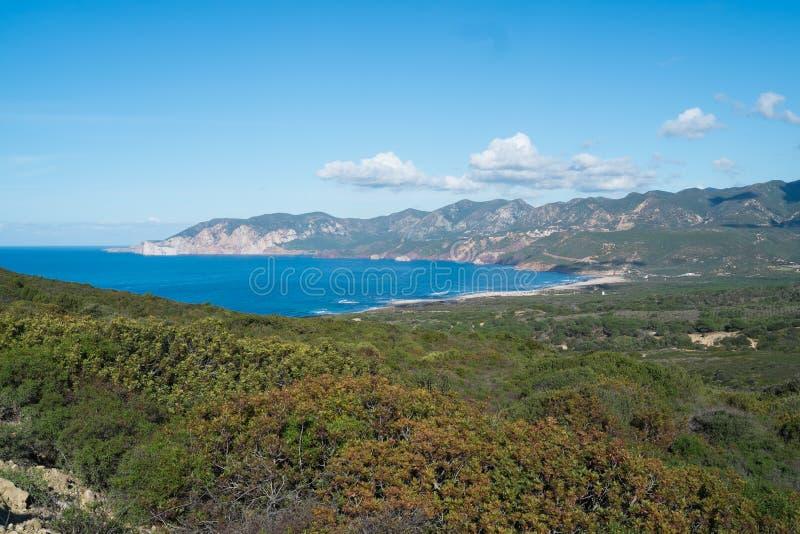Sardinia zachodnie wybrzeże fotografia royalty free