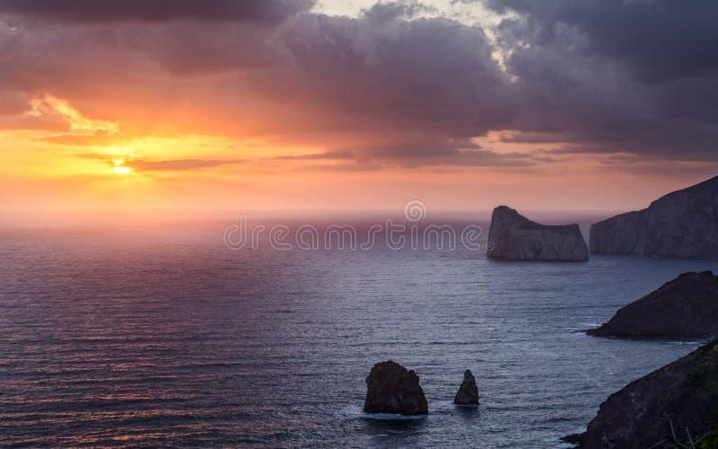 Sardinia zmierzch obraz royalty free