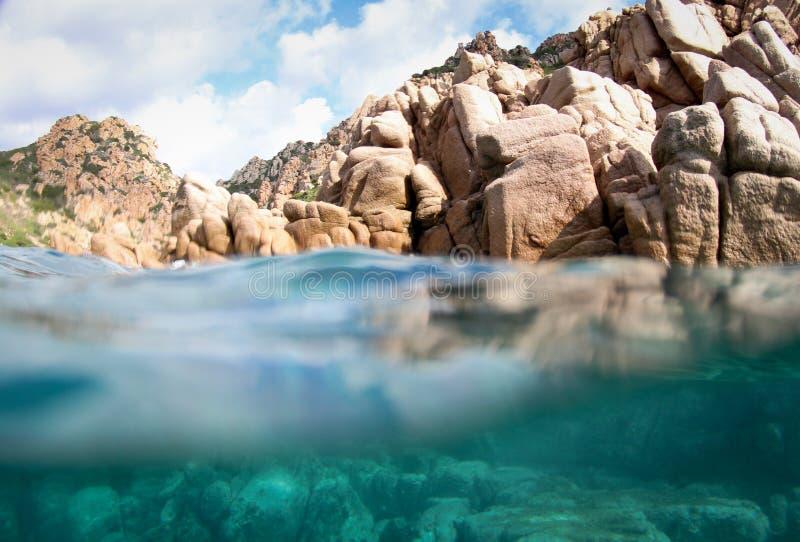 Sardinian coast rocks royalty free stock photography