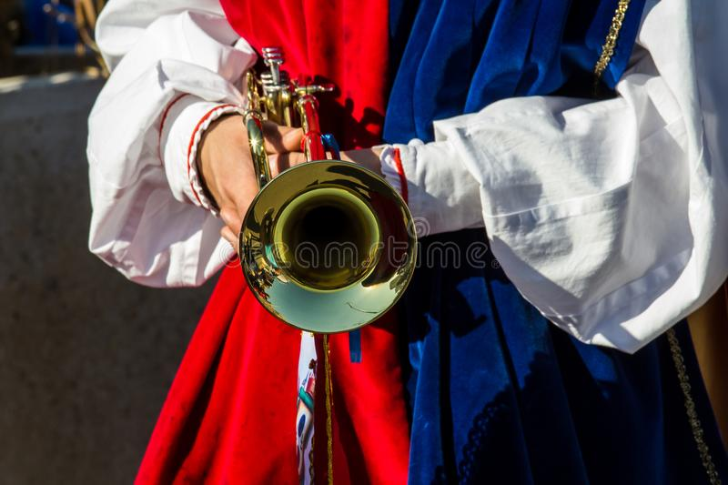 Sardinian music and traditions stock photography