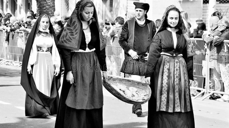 Sardinian tradition royaltyfri fotografi