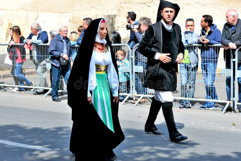 Sardinian tradition royaltyfri foto