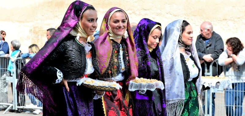 Sardinian tradition arkivbilder