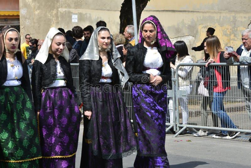 Sardinian tradition royaltyfria bilder