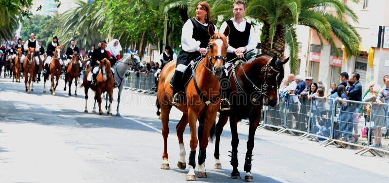 Sardinian tradition arkivfoton