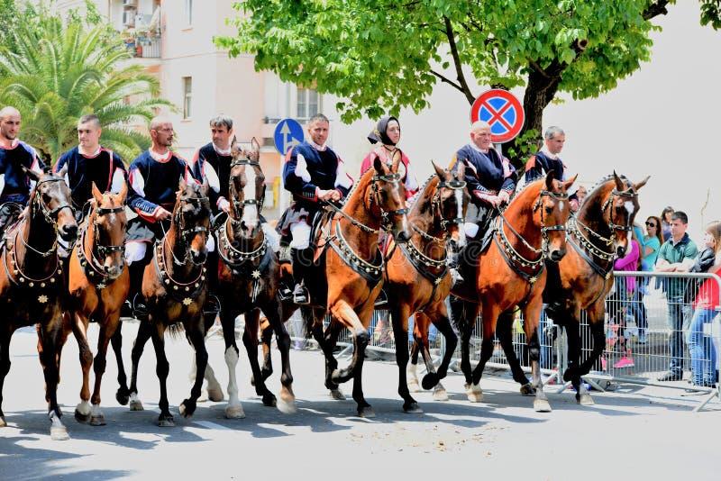 Sardinian tradition royaltyfri bild