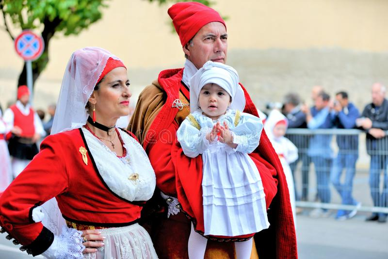 Sardinian tradition royaltyfria bilder