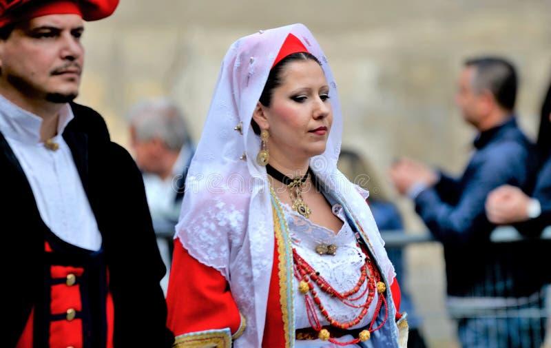 Sardinian tradition royaltyfri fotografi