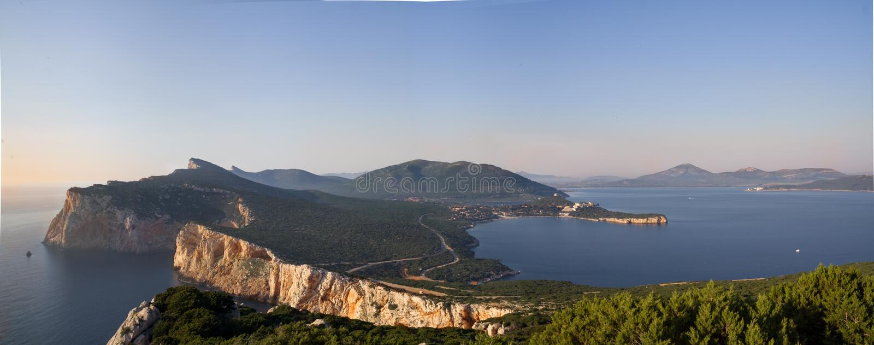 sardinien Panorama vom Capo Caccia stockfotografie