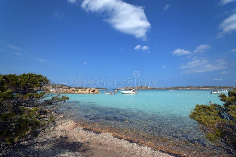 Sardinige, Budelli, eiland van de archipel van La Maddalena in noordoostelijk Sardinige, Sassari stock afbeelding