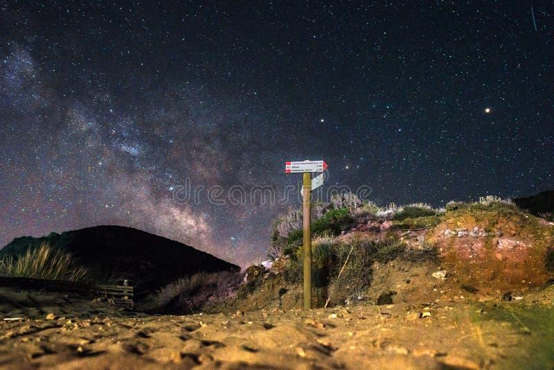 Sardinige, Cala Domestica bij nacht royalty-vrije stock foto's