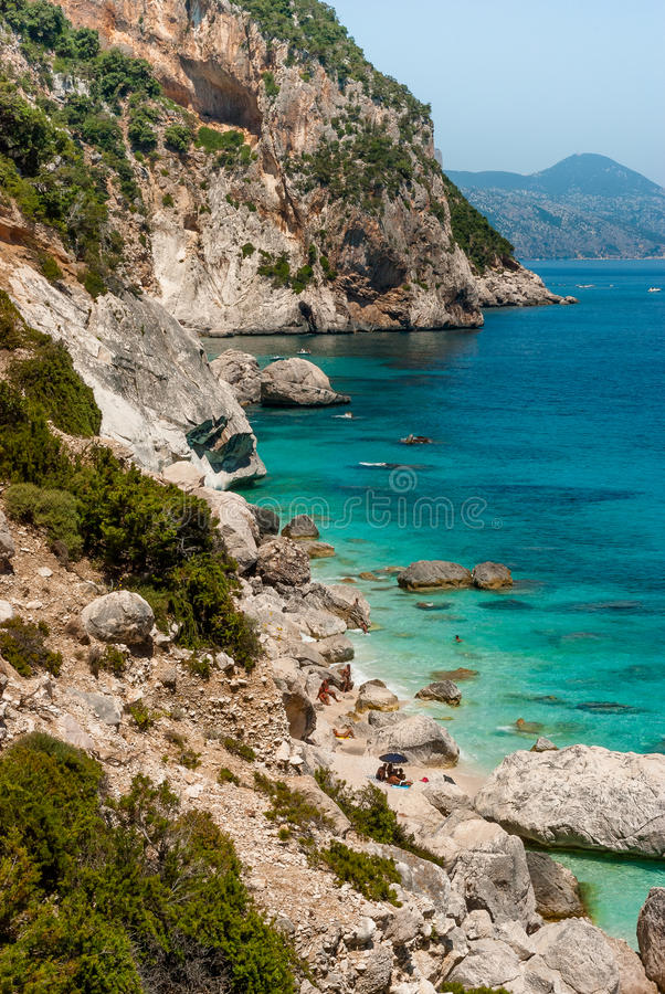 Sardinige, Cala Goloritzè stock afbeeldingen