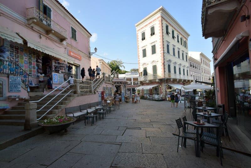 Sardinige, La Maddalena, laatste paradijs van ten noordoosten van Sardinige royalty-vrije stock foto's