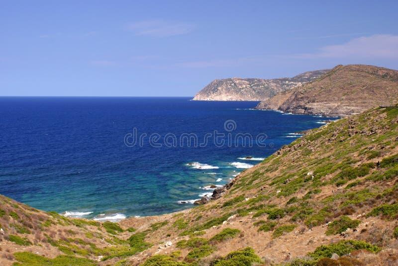 Sardinische Meerkosten lizenzfreie stockbilder
