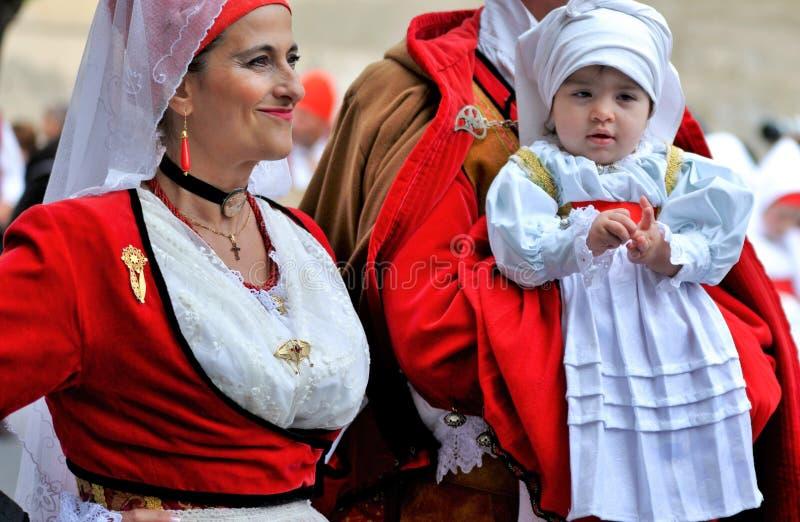 Sardinische Tradition stockbilder