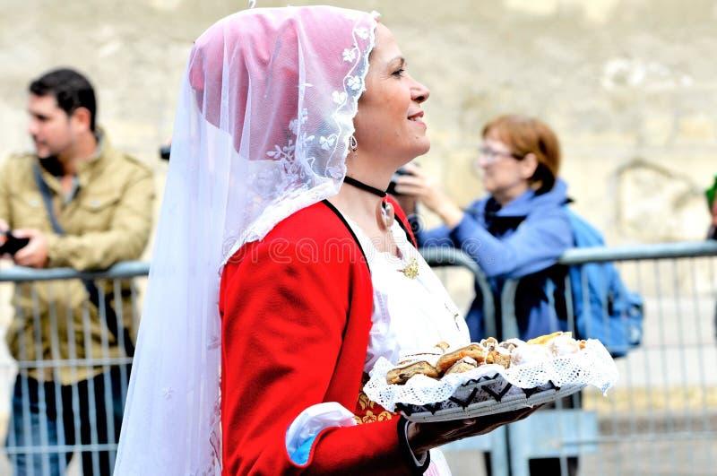 Sardinische Tradition stockbild