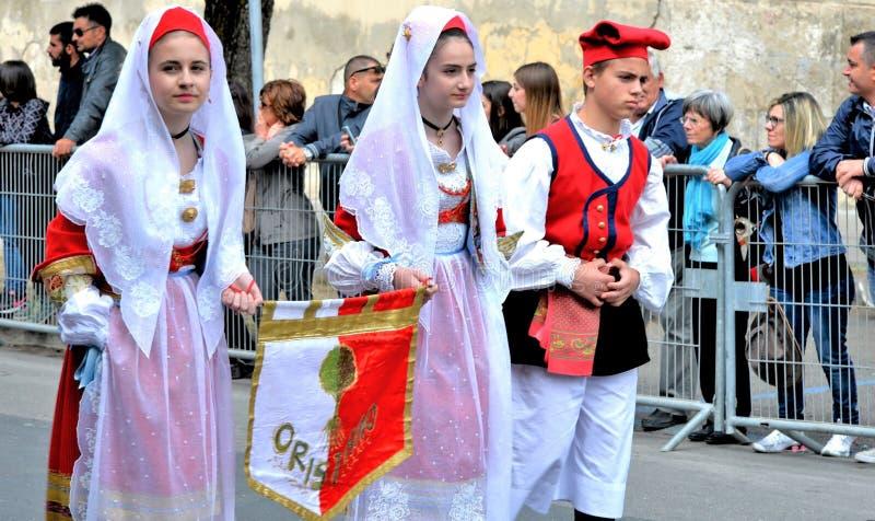Sardinische Tradition stockfotografie