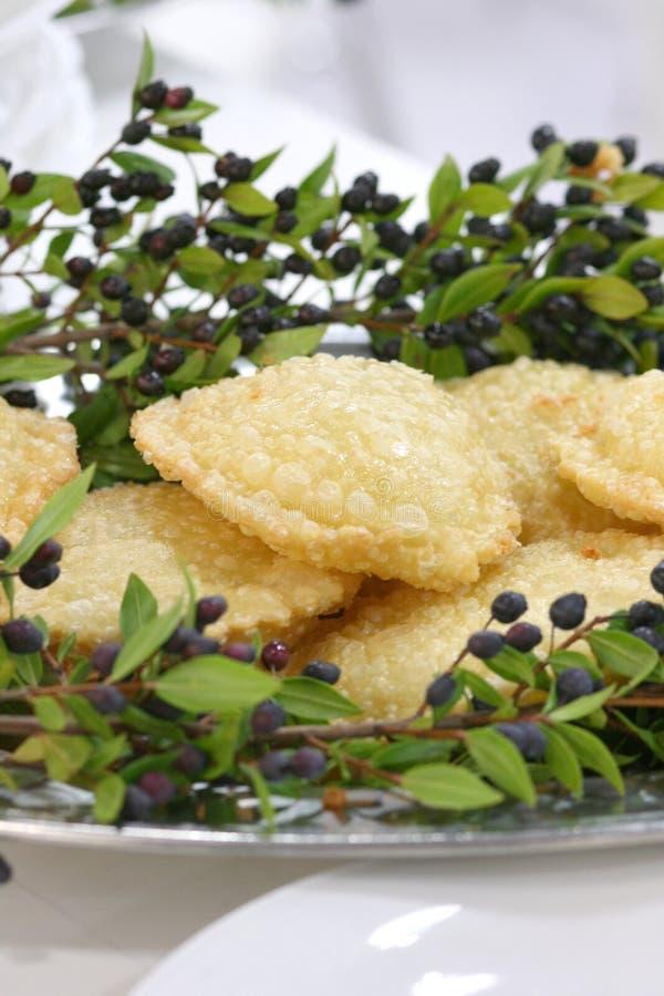 Sardinisches Käsegebäck stockfoto