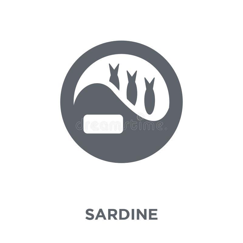 Sardinsymbol från campa samling stock illustrationer