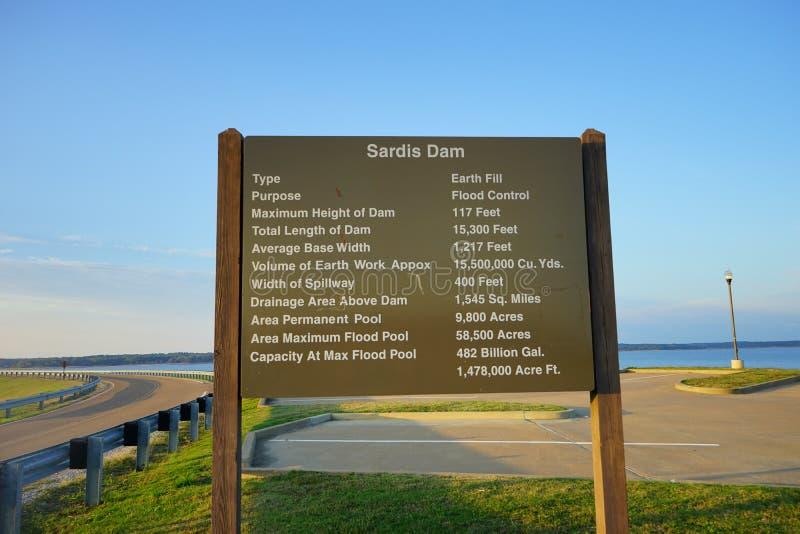 Sardis Lake dam stock photos