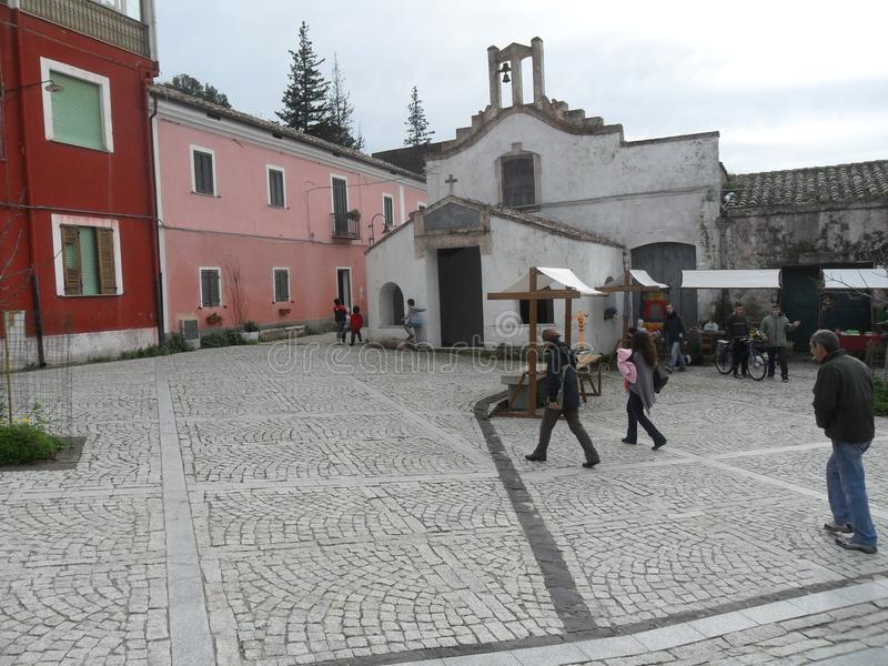 Sardyńska wioska zdjęcie royalty free