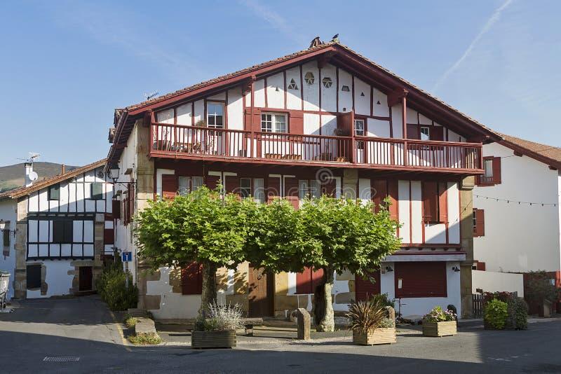 Sare Baskisch dorp royalty-vrije stock afbeeldingen