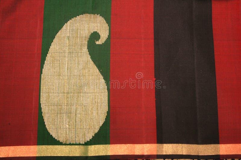 Saree da seda de Kanchipuram fotografia de stock