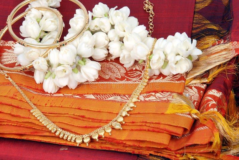 Saree en soie photo stock