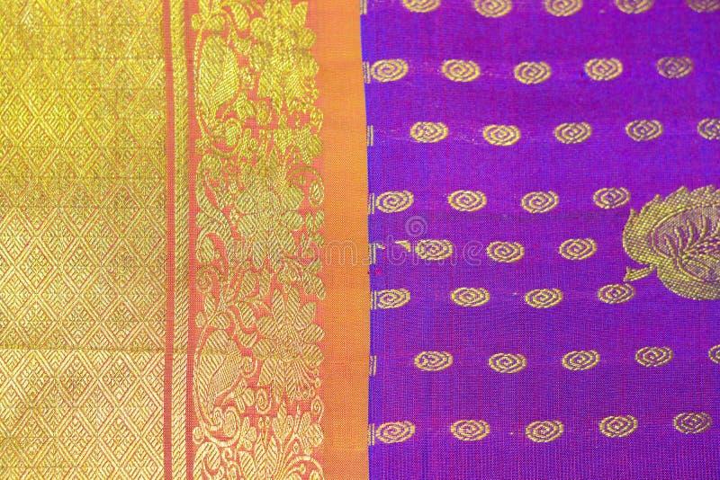 Saree en soie indien photographie stock
