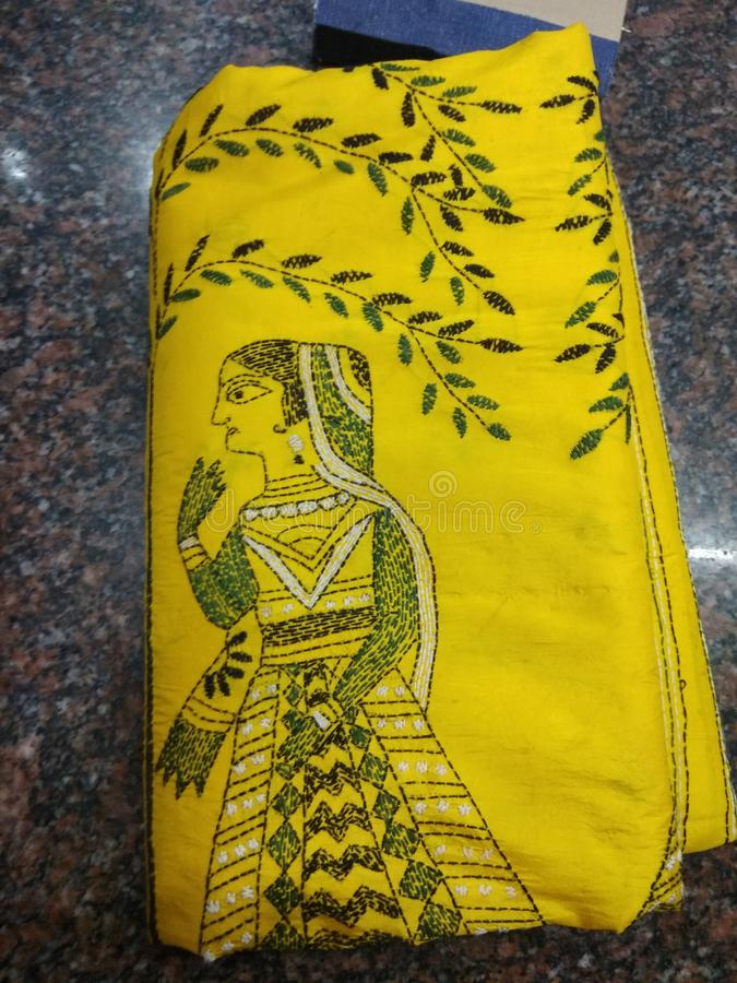 Saree indien image libre de droits