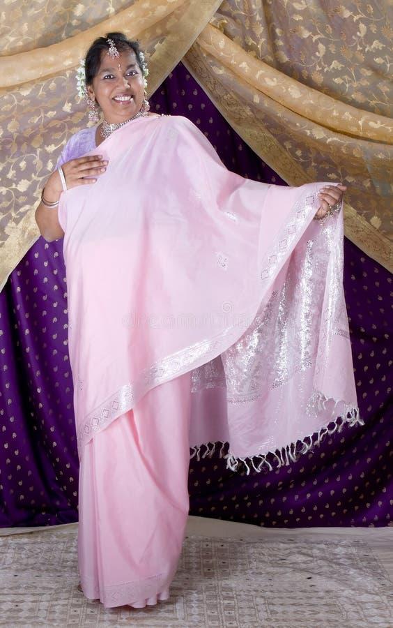 Saree tradicional imagens de stock
