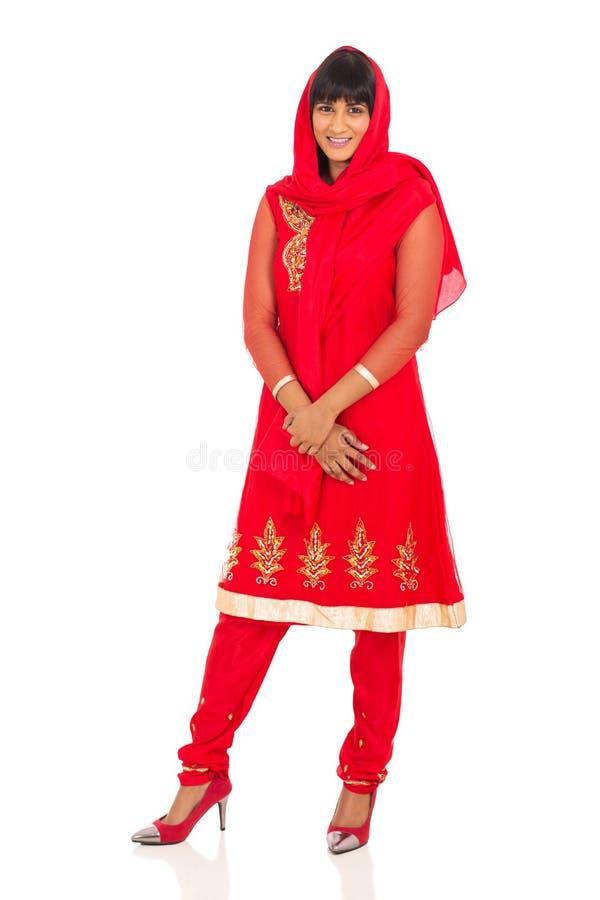 Saree tradicional da mulher fotografia de stock royalty free