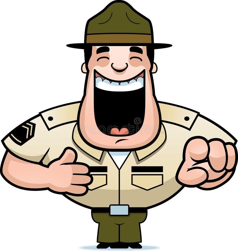 Sargento de taladro de la historieta Laughing libre illustration