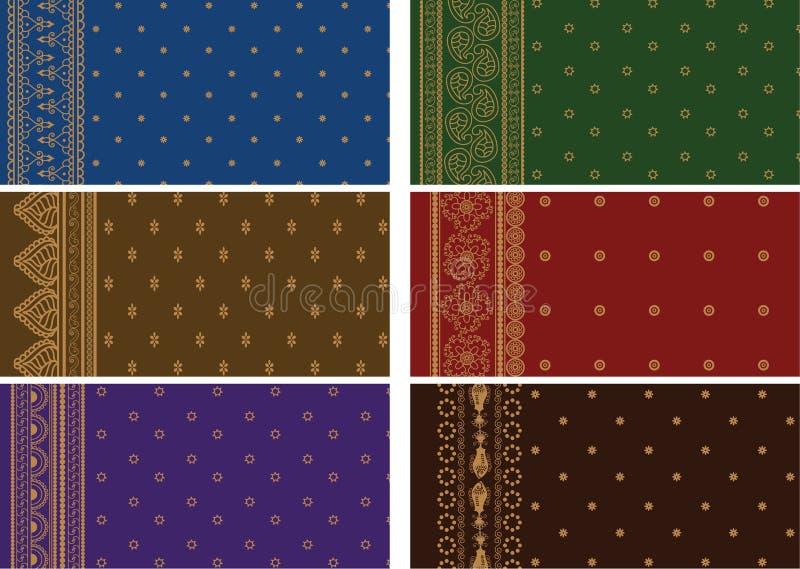 Download Sari Designs stock vector. Image of holi, asia, motif - 21344847