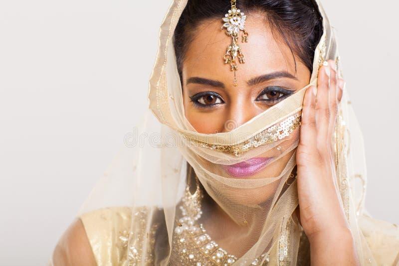 Sari indiano da mulher imagem de stock royalty free