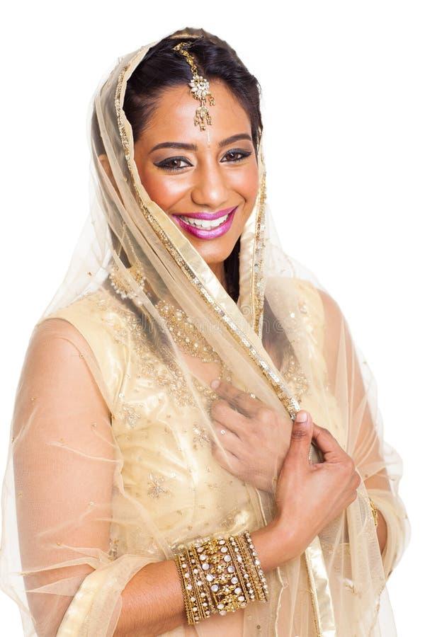 Sari indien de femme images stock