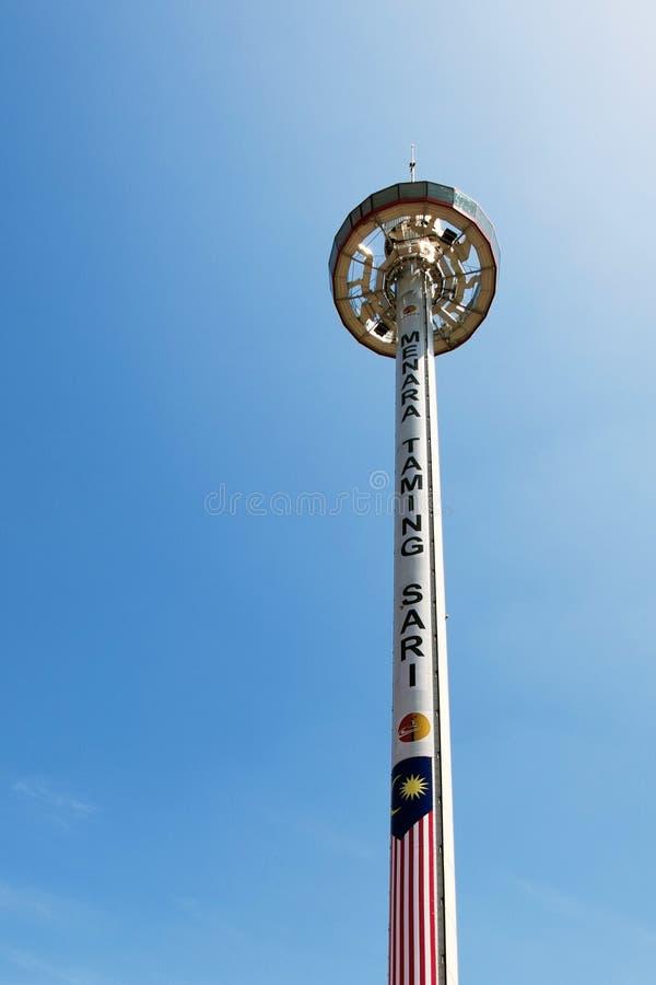 Sari Tower de dressage, Malacca, Malaisie images stock