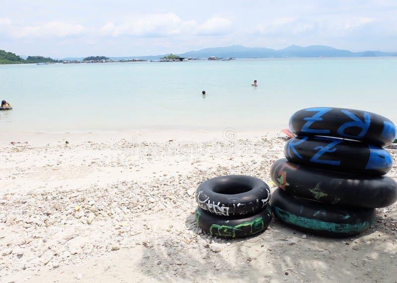 Sariringgungs-Strand in Lampung stockbilder