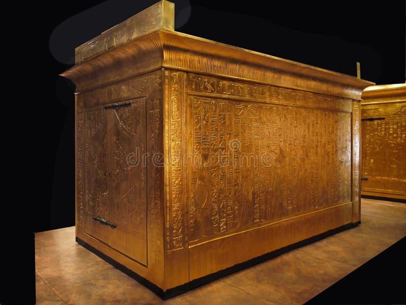 Sarkofag Faraoh Egipt luksus zdjęcia royalty free