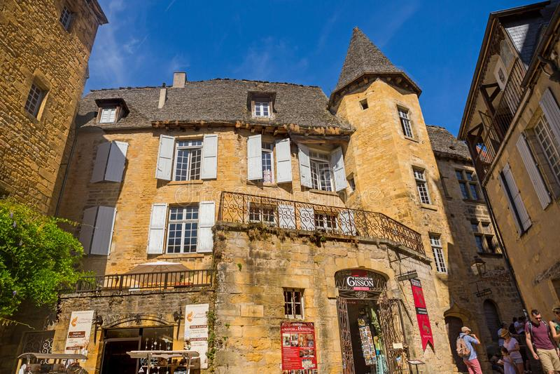 Sarlat-la-Caneda, France images stock