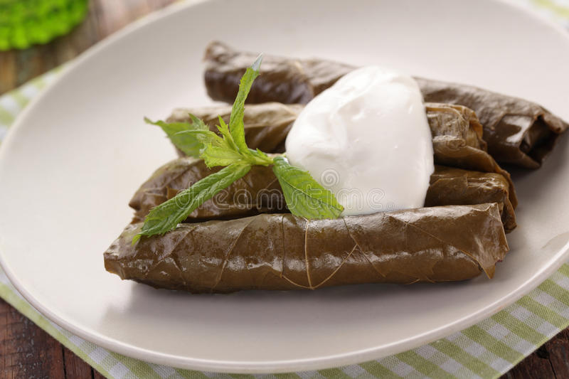 Sarma on a plate royalty free stock images